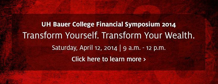 UH Bauer College Financial Symposium 2014