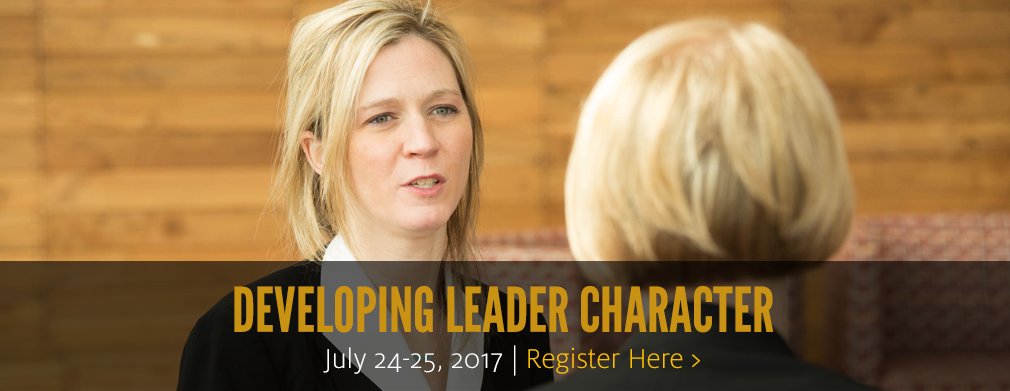 Developing Leader Character