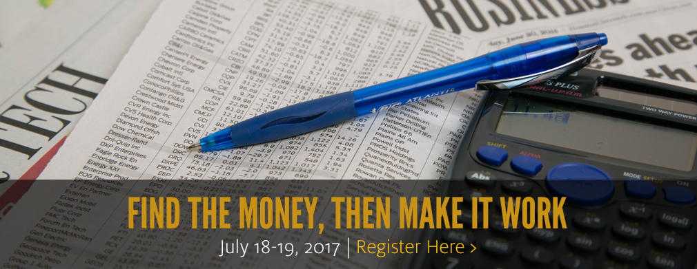 Find the Money, Then Make it Work: July 18-19