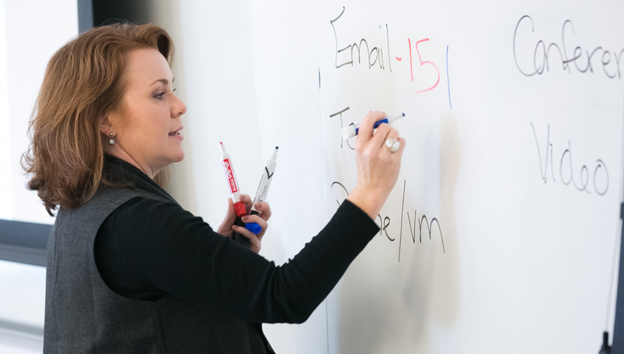 Bauer Professor in the Classroom